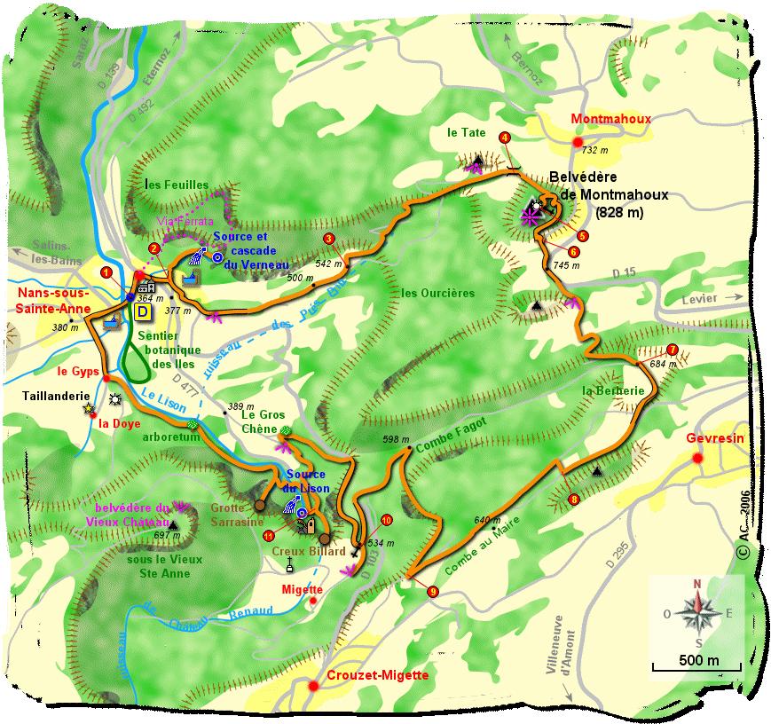 Circuit belv d re de montmahoux 828 m et source du - Salon de la randonnee ...